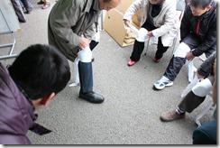 三角巾応急処置法指導